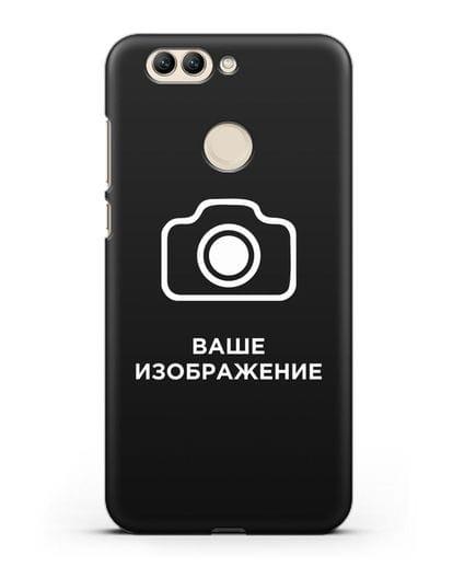 Чехол с фотографией, рисунком, логотипом на заказ силикон черный для Huawei Nova 2 Plus