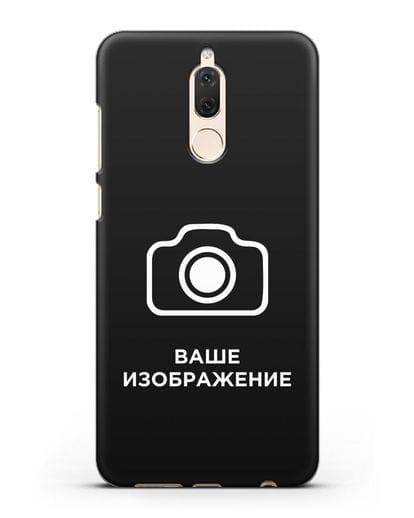 Чехол с фотографией, рисунком, логотипом на заказ силикон черный для Huawei Nova 2