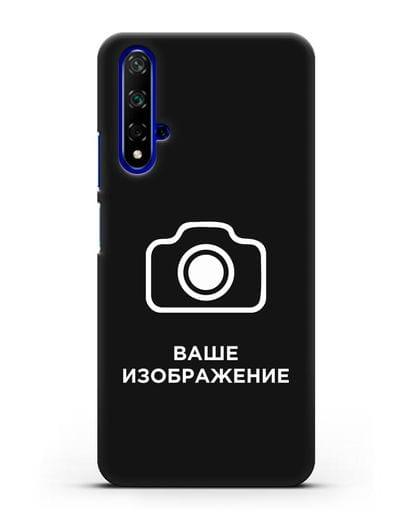 Чехол с фотографией, рисунком, логотипом на заказ силикон черный для Huawei Nova 5T