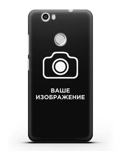 Чехол с фотографией, рисунком, логотипом на заказ силикон черный для Huawei Nova