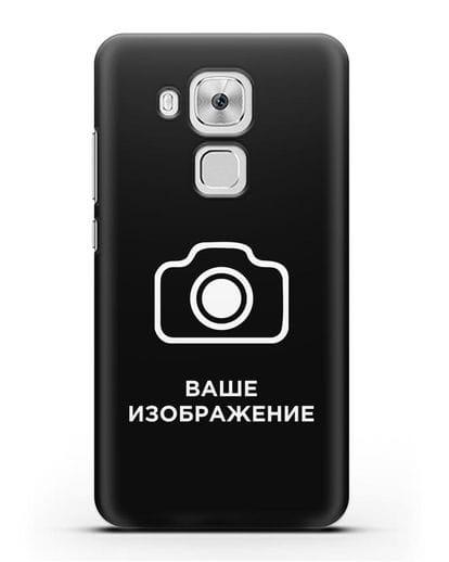 Чехол с фотографией, рисунком, логотипом на заказ силикон черный для Huawei Nova Plus