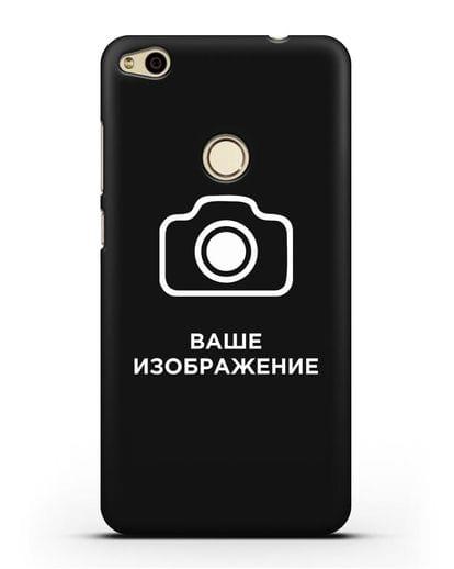 Чехол с фотографией, рисунком, логотипом на заказ силикон черный для Huawei P8 Lite 2017