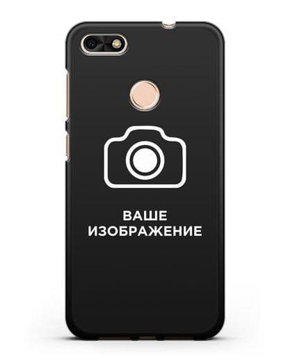 Чехол с фотографией, рисунком, логотипом на заказ силикон черный для Huawei P9 Lite mini