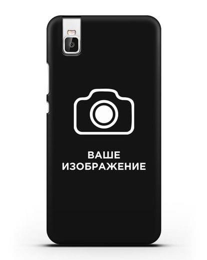 Чехол с фотографией, рисунком, логотипом на заказ силикон черный для Huawei Shot X