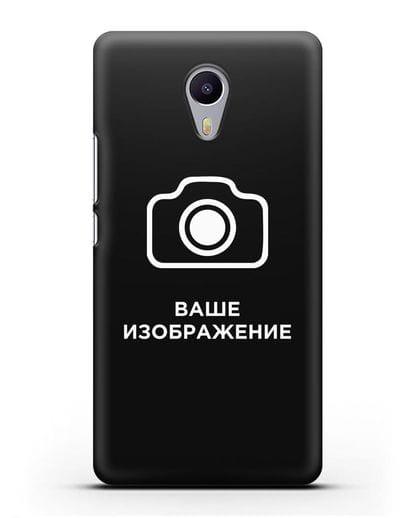 Чехол с фотографией, рисунком, логотипом на заказ силикон черный для MEIZU M3 Note