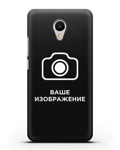 Чехол с фотографией, рисунком, логотипом на заказ силикон черный для MEIZU M3s mini