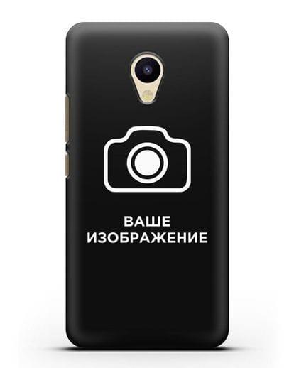 Чехол с фотографией, рисунком, логотипом на заказ силикон черный для MEIZU M5