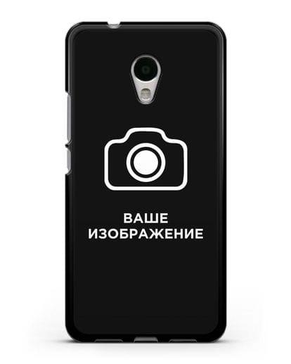 Чехол с фотографией, рисунком, логотипом на заказ силикон черный для MEIZU M5s