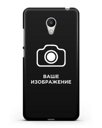 Чехол с фотографией, рисунком, логотипом на заказ силикон черный для MEIZU M6