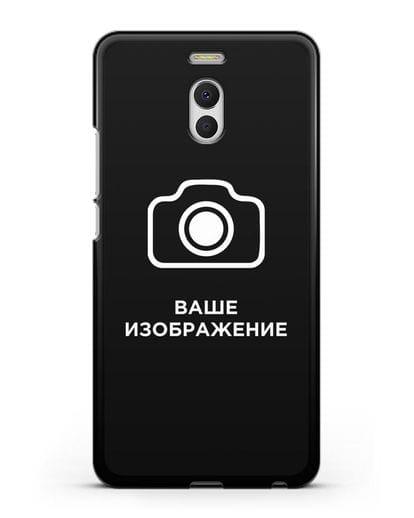 Чехол с фотографией, рисунком, логотипом на заказ силикон черный для MEIZU M6 Note