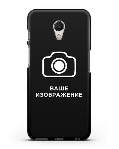 Чехол с фотографией, рисунком, логотипом на заказ силикон черный для MEIZU M6s