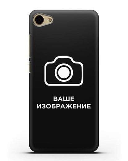 Чехол с фотографией, рисунком, логотипом на заказ силикон черный для MEIZU U10
