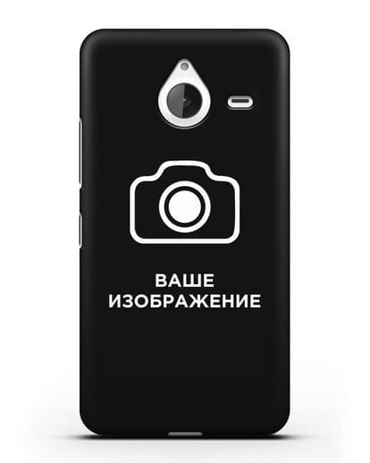 Чехол с фотографией, рисунком, логотипом на заказ силикон черный для Microsoft Lumia 640 XL