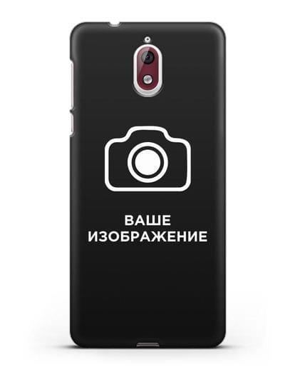 Чехол с фотографией, рисунком, логотипом на заказ силикон черный для Nokia 3.1
