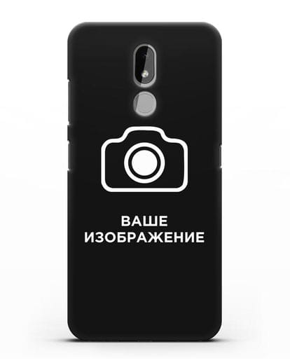 Чехол с фотографией, рисунком, логотипом на заказ силикон черный для Nokia 3.2 2019
