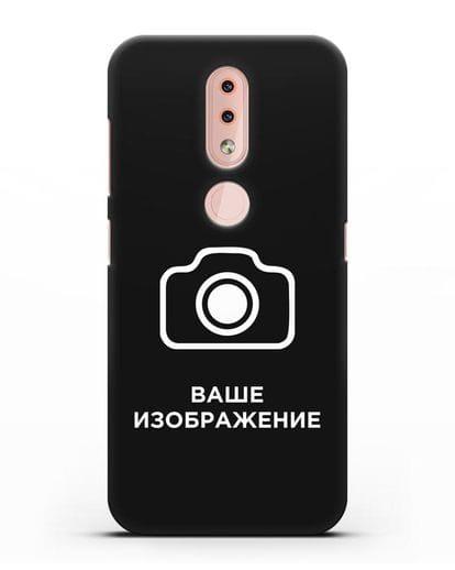Чехол с фотографией, рисунком, логотипом на заказ силикон черный для Nokia 4.2 2019