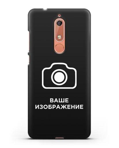 Чехол с фотографией, рисунком, логотипом на заказ силикон черный для Nokia 5.1