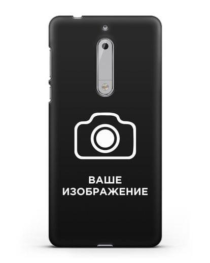 Чехол с фотографией, рисунком, логотипом на заказ силикон черный для Nokia 5