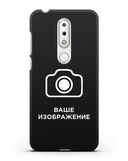 Чехол с фотографией, рисунком, логотипом на заказ силикон черный для Nokia 6.1 plus