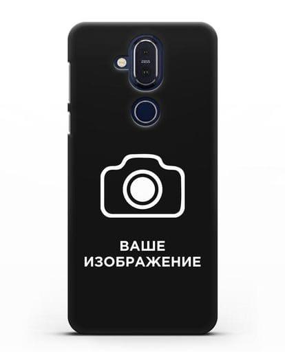 Чехол с фотографией, рисунком, логотипом на заказ силикон черный для Nokia 7.1 plus