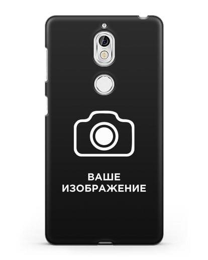 Чехол с фотографией, рисунком, логотипом на заказ силикон черный для Nokia 7