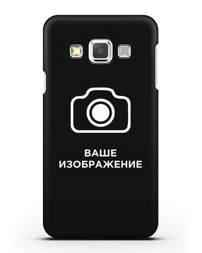 Чехол с фотографией, рисунком, логотипом на заказ силикон черный для Samsung Galaxy A3 2015 [SM-A300F]