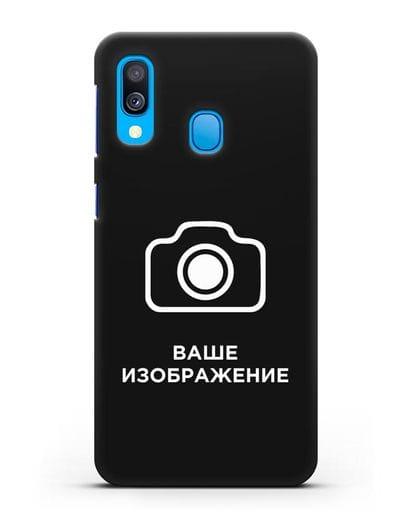 Чехол с фотографией, рисунком, логотипом на заказ силикон черный для Samsung Galaxy A40 [SM-A405F]