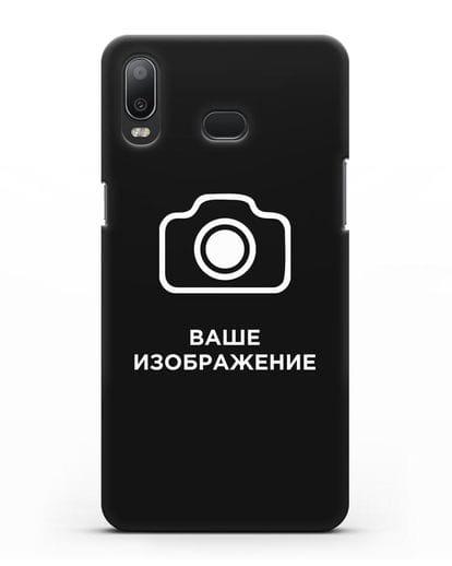 Чехол с фотографией, рисунком, логотипом на заказ силикон черный для Samsung Galaxy A6s [SM-G6200]