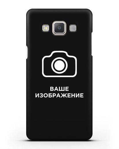 Чехол с фотографией, рисунком, логотипом на заказ силикон черный для Samsung Galaxy A7 2015 [SM-A700F]