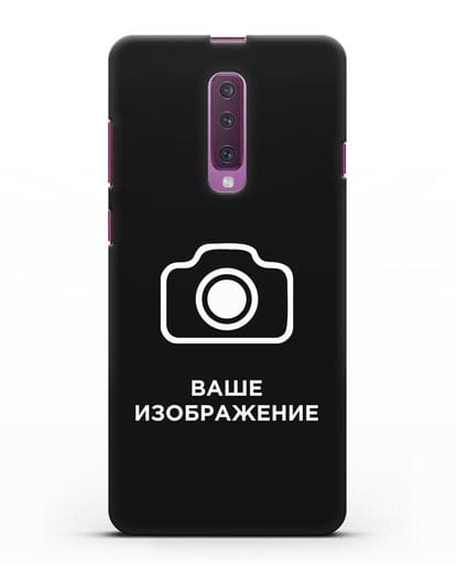 Чехол с фотографией, рисунком, логотипом на заказ силикон черный для Samsung Galaxy A90 [SM-A908N]