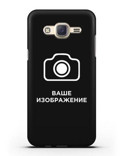 Чехол с фотографией, рисунком, логотипом на заказ силикон черный для Samsung Galaxy J7 2015 [SM-J700H]