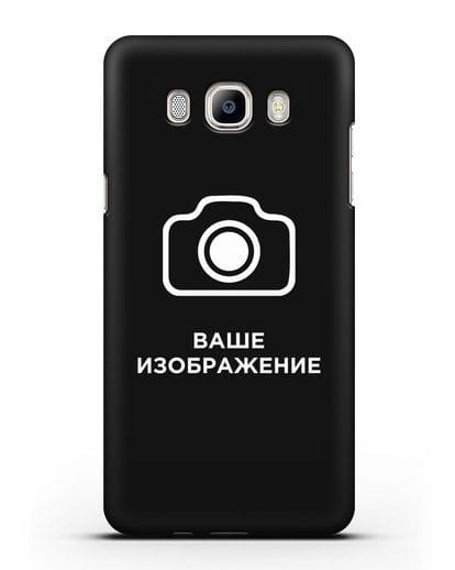 Чехол с фотографией, рисунком, логотипом на заказ силикон черный для Samsung Galaxy J7 2016 [SM-J710F]