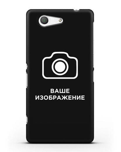 Чехол с фотографией, рисунком, логотипом на заказ силикон черный для Sony Xperia Z3 Compact