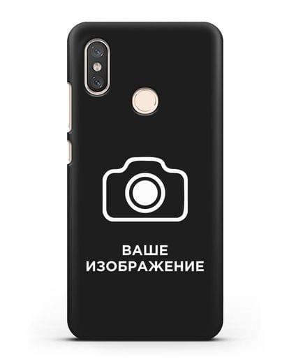 Чехол с фотографией, рисунком, логотипом на заказ силикон черный для Xiaomi Mi 8