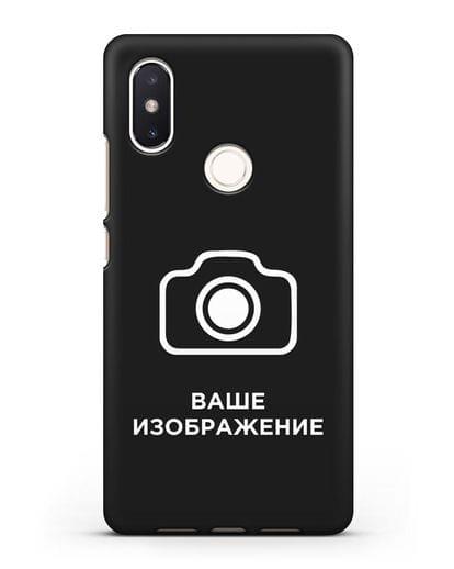 Чехол с фотографией, рисунком, логотипом на заказ силикон черный для Xiaomi Mi 8 SE
