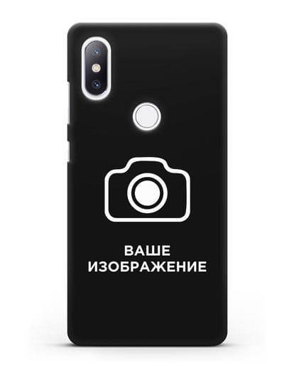 Чехол с фотографией, рисунком, логотипом на заказ силикон черный для Xiaomi Mi Mix 2S