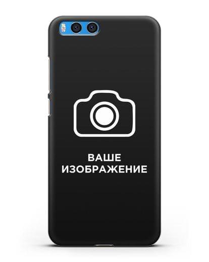 Чехол с фотографией, рисунком, логотипом на заказ силикон черный для Xiaomi Mi Note 3