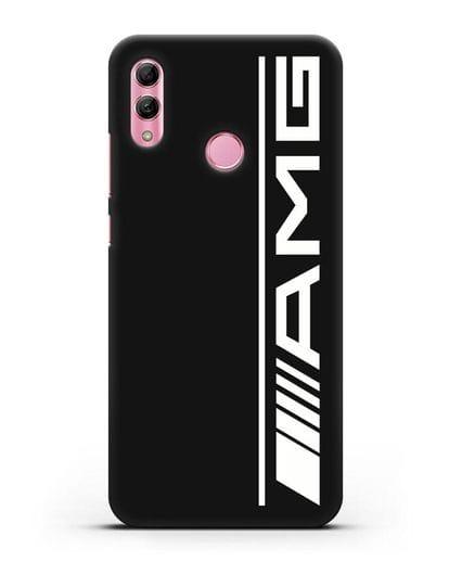 Чехол с логотипом AMG силикон черный для Honor 10 Lite