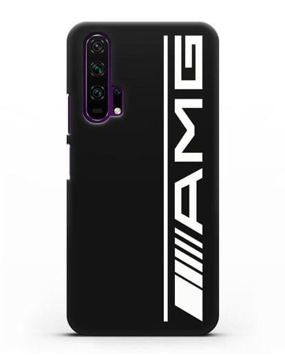 Чехол с логотипом AMG силикон черный для Honor 20 Pro
