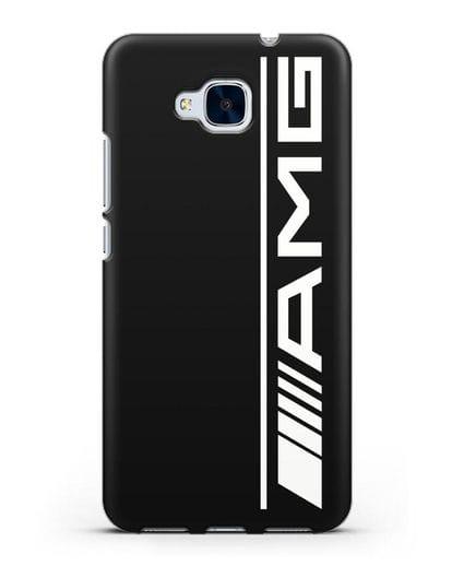 Чехол с логотипом AMG силикон черный для Honor 5C