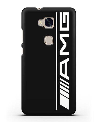 Чехол с логотипом AMG силикон черный для Honor 5X