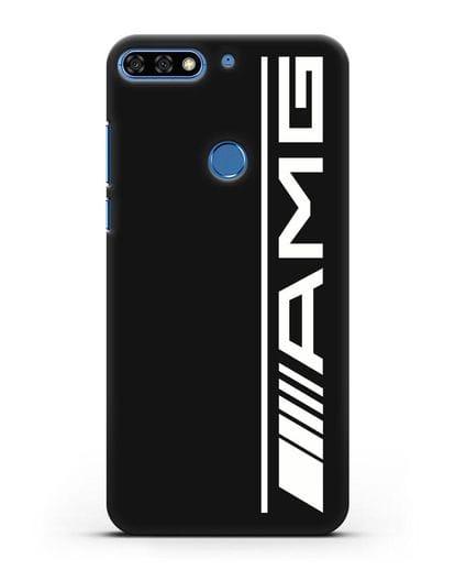 Чехол с логотипом AMG силикон черный для Honor 7C Pro