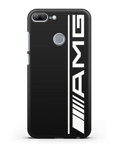 Чехол с логотипом AMG силикон черный для Honor 9 Lite