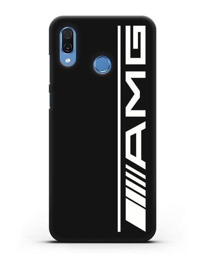 Чехол с логотипом AMG силикон черный для Honor Play