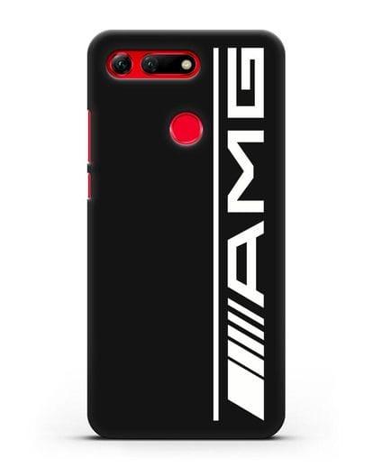Чехол с логотипом AMG силикон черный для Honor View 20