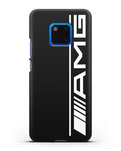Чехол с логотипом AMG силикон черный для Huawei Mate 20 Pro