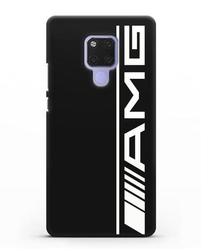 Чехол с логотипом AMG силикон черный для Huawei Mate 20X