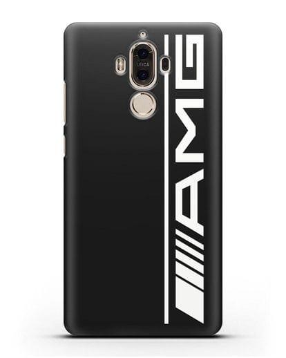 Чехол с логотипом AMG силикон черный для Huawei Mate 9