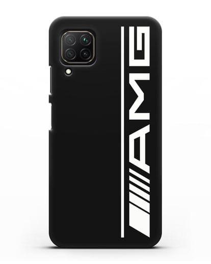 Чехол с логотипом AMG силикон черный для Huawei Nova 7i