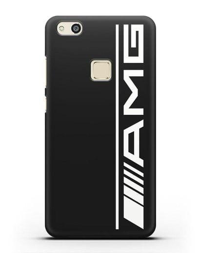 Чехол с логотипом AMG силикон черный для Huawei P10 Lite
